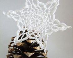 Crochet snowflake,Hanging ornament gift,Hanging decorations,Crochet ornaments,White crochet snowflakes,Handmade ornaments,Bridal shower #20