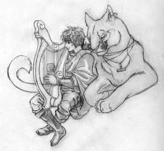 Fflewddur and Llyan: Your Tune by HoldMusic.deviantart.com on @deviantART