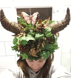 Wood nymph headdress for enchanted forest theme party