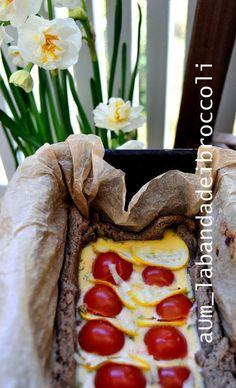 Quiche di primavera di grano saraceno, zucchina gialla e pomodori IGP di Pachino a grappolo - La banda dei Broccoli #pachinoigp #glutenfree