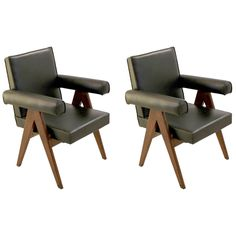 Pair of Pierre Jeanneret Committee Armchairs