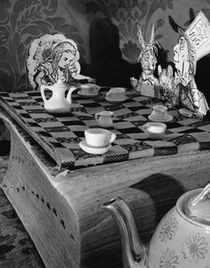Abelardo Morell, Alice in Wonderland, A Mad Tea Party, 1998 Lewis Carroll, Adventures In Wonderland, Alice In Wonderland, Still Life Photography, Art Photography, Go Ask Alice, Were All Mad Here, Through The Looking Glass, Disney Love