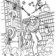 Spider Man Homecoming 2 Coloring Pages Hellokids Com Spiderman Coloring Coloring Pages Spider Coloring Page