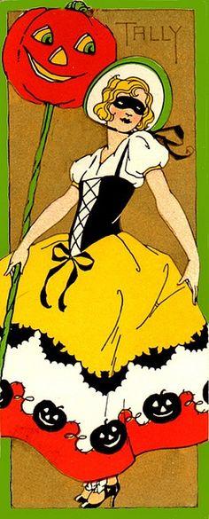 CHLOE VAN PARIS: VINTAGE HALLOWEEN GREETING CARD