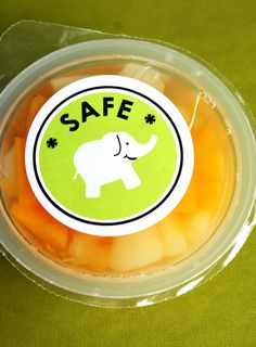 """Free printables for identifying """"safe"""" food for home and school."""