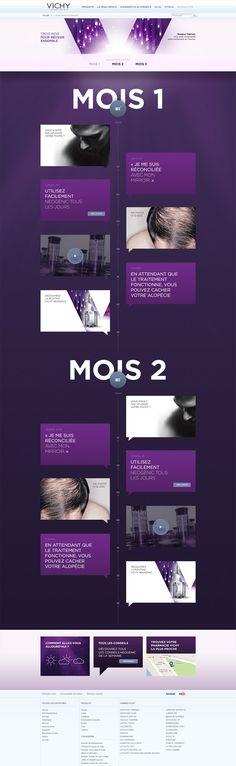 Unique Web Design, Vichy Laboratoires via @projim0524 #WebDesign #Design