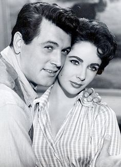 GIANT (1956) - Rock Hudson and Elizabeth Taylor - Based on novel by Edna Ferber - Produced & Directed by George Stevens - Warner Bros. - Publicity Still.