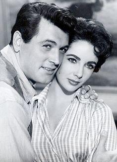 GIANT (1956) - Rock Hudson and Elizabeth Taylor - Based on novel by Edna Ferber - Produced & Directed by George Stevens - Warner Bros. - Publicity Still.