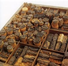 Carved stamps from old wine corks!