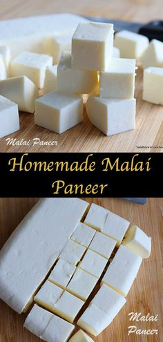 Home made Malai Paneer Paneer Cheese Recipes, Kitchen Recipes, Gourmet Recipes, How To Make Cheese, Making Cheese, Indian Cheese, How To Make Paneer, Pakora Recipes, Curry Dishes