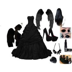 half angel half dark angel costume - Google Search