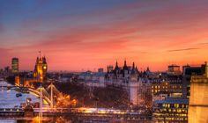 London Sunset---seen it many times and it is always spectacular!