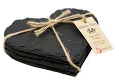 Image detail for -IdentiLase - Welsh Slate Heart Coasters (hcoa_4)
