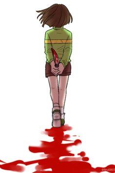 Chara by RyuO Undertale Comic, Undertale Game, Undertale Drawings, Undertale Fanart, Frisk, Fan Art, Animes Yandere, Rpg Horror Games, Estilo Anime