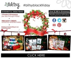 Check this out!  Great prices always, and giveaways this week as they count down the days to #blitsyblackfriday!