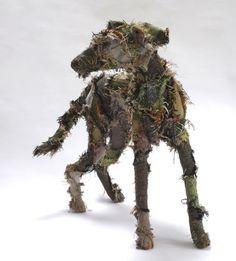 animal sculpture shaggy dog tale by barbara franc