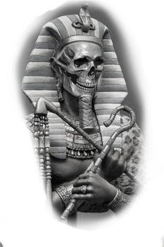 Chicano Art Tattoos, Skull Tattoos, Sleeve Tattoos, Tattoo Sketch Art, Tattoo Design Drawings, Tattoo Designs, Realistic Tattoo Sleeve, Egyptian Tattoo Sleeve, Shiva Tattoo Design