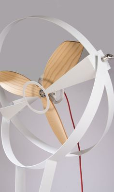 Marco Gallegos' Fan-C-Fan is a reproportion of the traditional floor fan. Made out of 3 bent plywood parts and engineered as a hyperbolic parabaloid defined by a mathematical equation, Fan-C-Fan is testing the waters. Id Design, Modern Design, Minimal Design, Graphic Design, Clever Design, Cool Designs, 3d Prints, Industrial Design, Decoration
