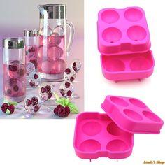 Cubo de hielo bola de silicona fabricante de moldes esfera molde Party ladrillo bandeja redonda Bar Tool envío gratis en de en AliExpress.com | Alibaba Group