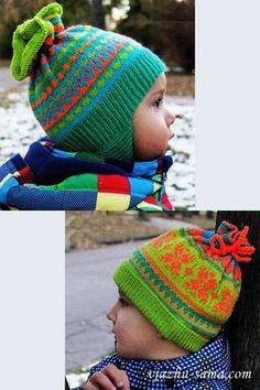 Детские шапки с жаккардовым узором
