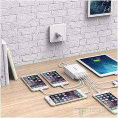 QICENT 6-port Desktop smart USB Charger available at $16.99 in Amazon.com