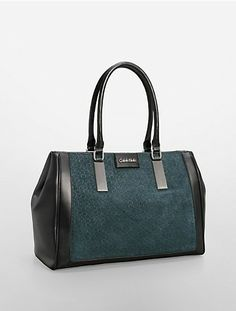 d18cac226f brynn suede + faux leather croco embossed accent carryall bag Carry All Bag,  Handbags On