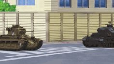 Girls und Panzer anime panzer IV versus cromwell tanks (or are these Churchills).