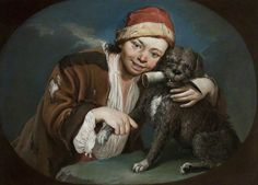 Photograph-Boy with pet dog-Photograph printed in the USA Fine Art Prints, Framed Prints, Canvas Prints, Print Poster, Poster Size Prints, Photographing Boys, Italy Painting, Poster Boys, Pet Dogs