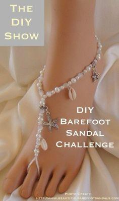 Barefoot sandals  #crafts