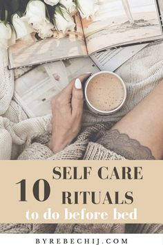 Try these 10 self care, self love rituals, routine every night before bed for more day time success and inner peace. In this article, you'll learn the easiest ways to practice a self care routine… Evening Routine, Night Routine, Wellness Tips, Health And Wellness, Mental Health, Health Icon, Health Facts, Self Care Activities, Self Improvement Tips
