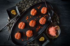 Brain Shape, Sushi Grade Tuna, Radish Sprouts, Spooky Food, Chili Garlic Sauce, Black Rice, Crab Meat, Griddle Pan, Halloween