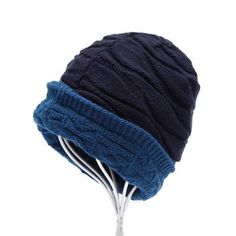 5f52817669663 Unisex Spring Fashion Beanies Knit Winter Hat For Man And Women Solid Color  Elastic Hip-Hop Two Styles