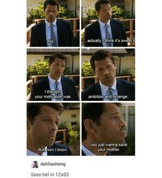 supernatural tumblr textpost castiel cas crowley season 12 funny lol