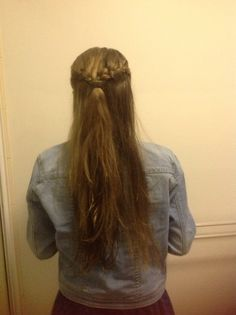 Beautiful hair for parties and going out! #halfup