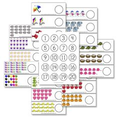 If you're looking for templates to put on those recycled bottle caps, look no further! Here's a great set of of bottle cap counting cards.