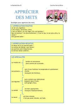 Vocabulaire appréciation (B2) French Expressions, French Language Lessons, French Lessons, Spanish Lessons, French Teaching Resources, Teaching French, Spanish Activities, Teaching Spanish, French Basics