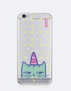 funda-movil-unicornio-gato-unicornio-3 Phone Cases, See Through, Mobile Cases, Unicorns, Cat