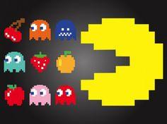 Caracteres fruta Pac-man vector Vector Gratis