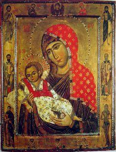 Byzantine icons of Sinai - Icons - Gallery - Web gallery of art Religious Images, Religious Icons, Religious Art, Byzantine Icons, Byzantine Art, Russian Icons, Russian Art, Early Christian, Christian Art
