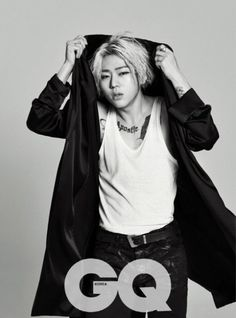 """Block B's Zico discusses prejudice against idols pursuing hip-hop as well as the """"I'm an idol, so what"""" trope whilst looking like a super """"Tough Cookie"""" in his pictorial for the May 2015 issue of GQ magazine."""