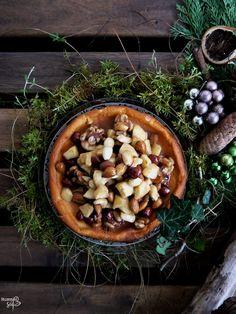 Cheesecake mit Nuss-Apfel-Zimt Karamell