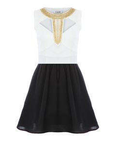 Embellished Cut Out Skater Dress x  http://www.missguided.co.uk/embellished-cut-out-skater-dress-38374