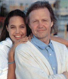 Angelina Jolie with her dad, Jon Voight
