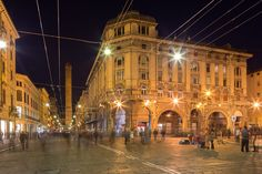 Via Rizzoli by night