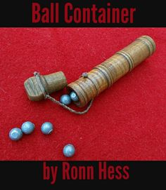 Ball Container, turned tiger maple, by Ron Hess.
