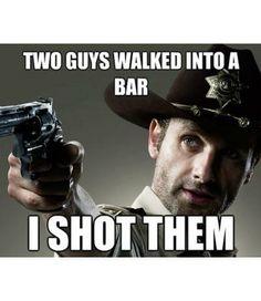 He shot them