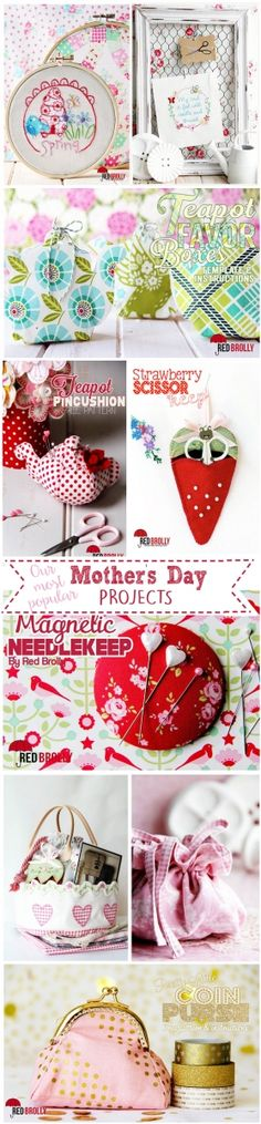 Cute DIY Projects - mothers day projects red brolly