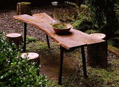 Rustic Tivoli table by grayworkdesign