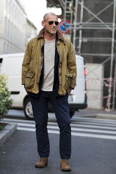 On the Street…The Perfect Vintage Barbour Coat, Milan « The Sartorialist