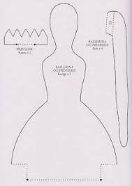 Resultado de imagem para molde de boneca de pano Tilda